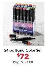Craft Warehouse Black Friday: Spectra 24-Piece Basic Color Marker Set for $72.00
