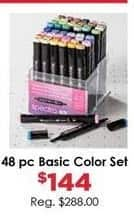 Craft Warehouse Black Friday: Spectra 48-Piece Basic Color Marker Set for $144.00