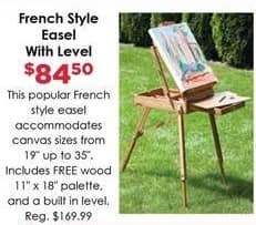 Craft Warehouse Black Friday: French Style Easel w/Level for $84.50