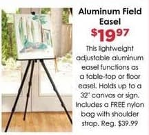 Craft Warehouse Black Friday: Aluminum Field Easel for $19.97