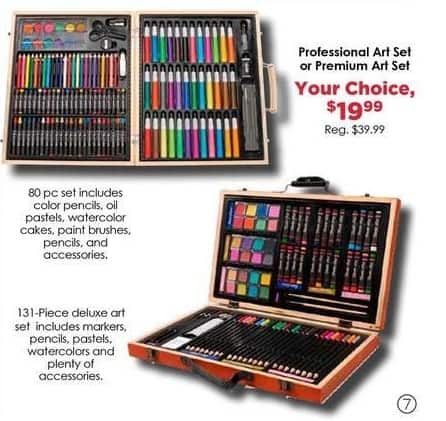 Craft Warehouse Black Friday: Professional or Premium Art Set, 80-131 Pieces for $19.99