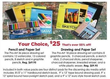 Craft Warehouse Black Friday: 18-Piece Drawing and Paper Set for $25.00