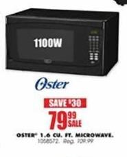 Blains Farm Fleet Black Friday: Oster 1.6 Cu. Ft. Microwave for $79.99