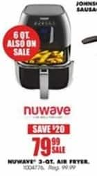 Blains Farm Fleet Black Friday: Nuwave 3-Quart Air Fryer for $79.99