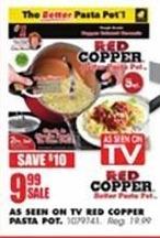 Blains Farm Fleet Black Friday: As Seen on TV Red Copper Pasta Pot for $9.99