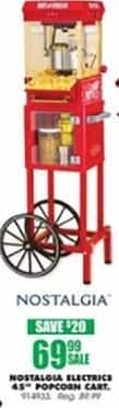 "Blains Farm Fleet Black Friday: Nostalgia Electrics 45"" Popcorn Cart for $69.99"