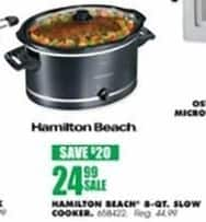 Blains Farm Fleet Black Friday: Hamilton Beach 8-Quart Slow Cooker for $24.99
