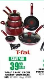 Blains Farm Fleet Black Friday: T-Fal 14-Piece Excite Cherry Cookware Set for $39.99
