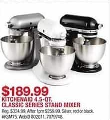 Macy\'s Black Friday: KitchenAid 4.5 Qt. Classic Plus Stand ...