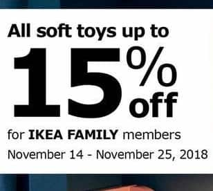 Ikea Black Friday All Soft Toys Up To 15 Off
