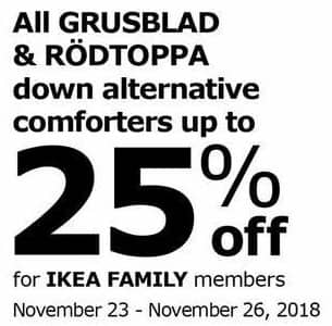 Ikea Black Friday All Grusblad Rodtoppa Down Alternative