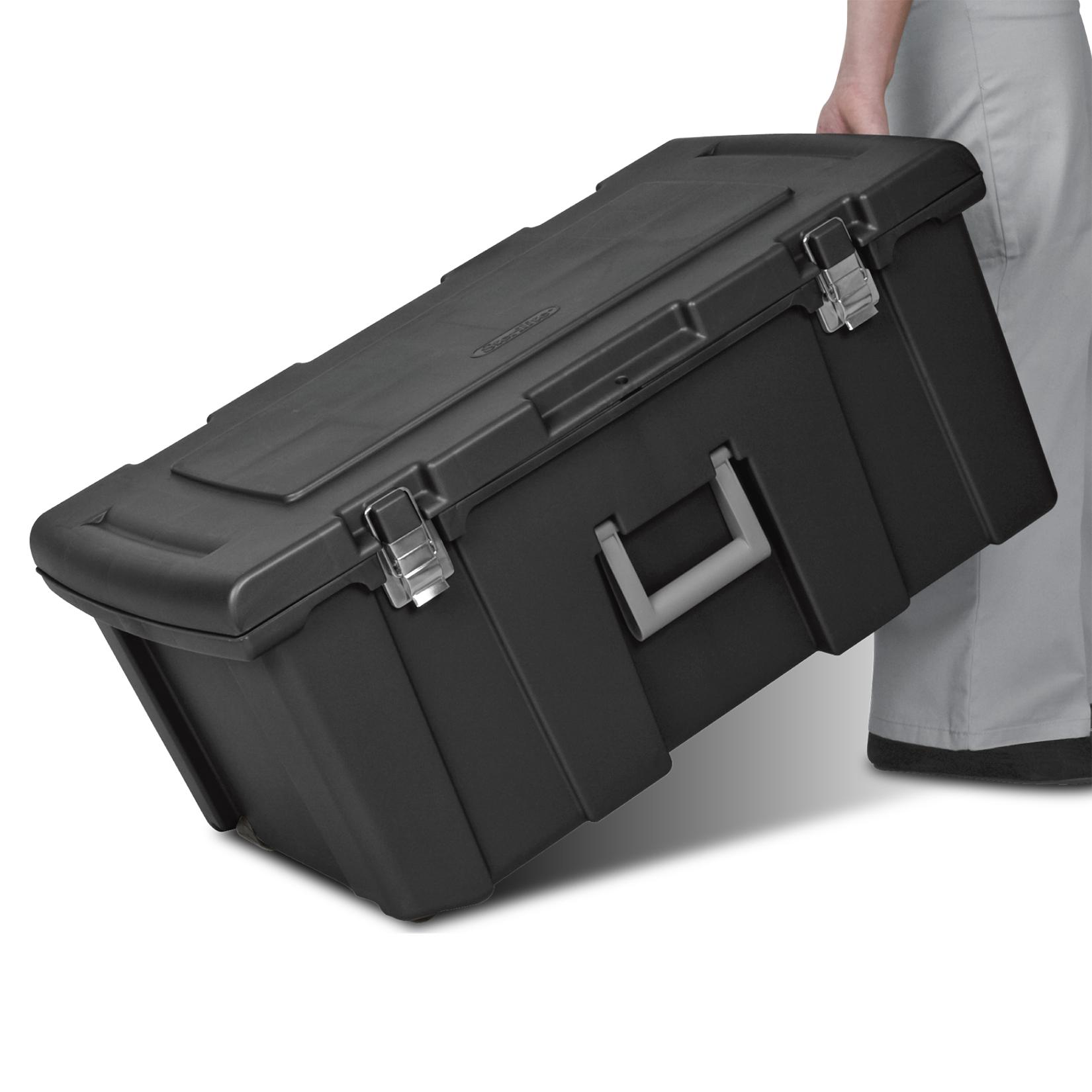 16-Gallon Sterilite Footlocker Storage Box w/ Wheels $16.46