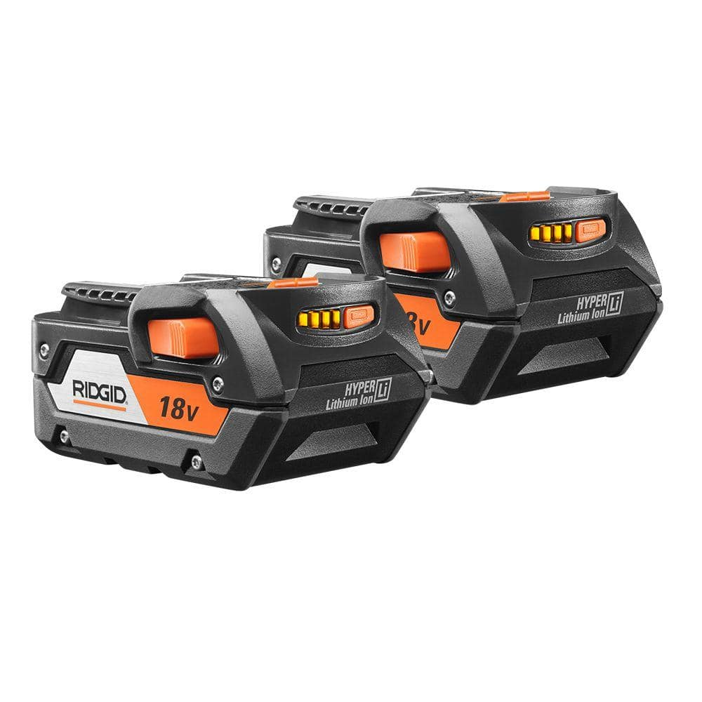 Ridgid 18-Volt Lithium Ion 4.0Ah Battery Pack (2-Pack) $79.00 YMMV