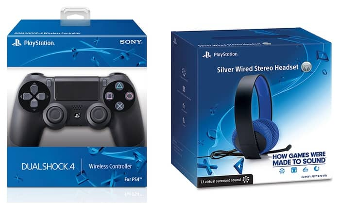 PlayStation 4 DualShock 4 Wireless Controller with FREE Sony Silver Wired Headset $59.99 SHIPPED Until Tuesday @ 10pm