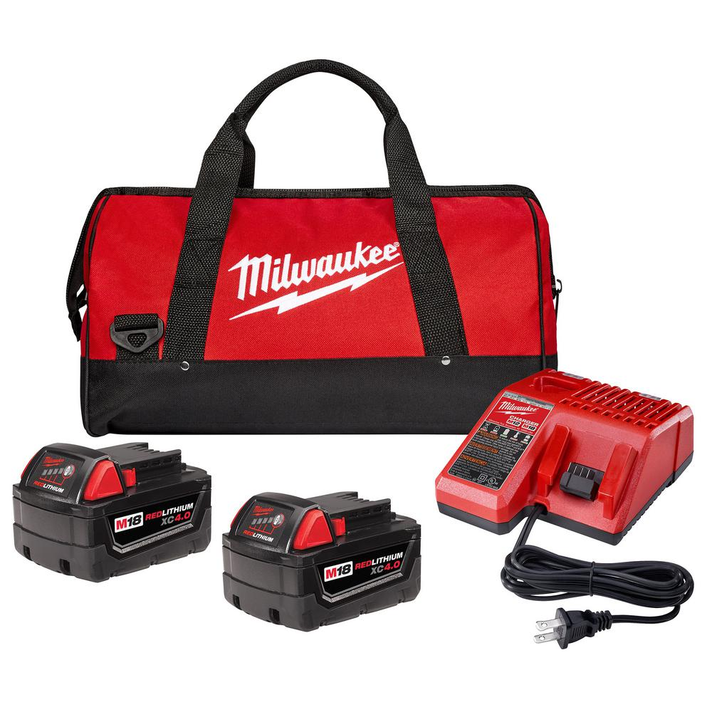 M18 (2) 4Ah batteries/charger + (1) free tool - HACKABLE