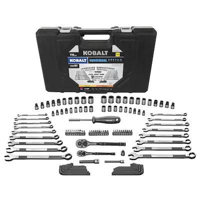 Kobalt Universal 115 Piece Tool Set $37.25
