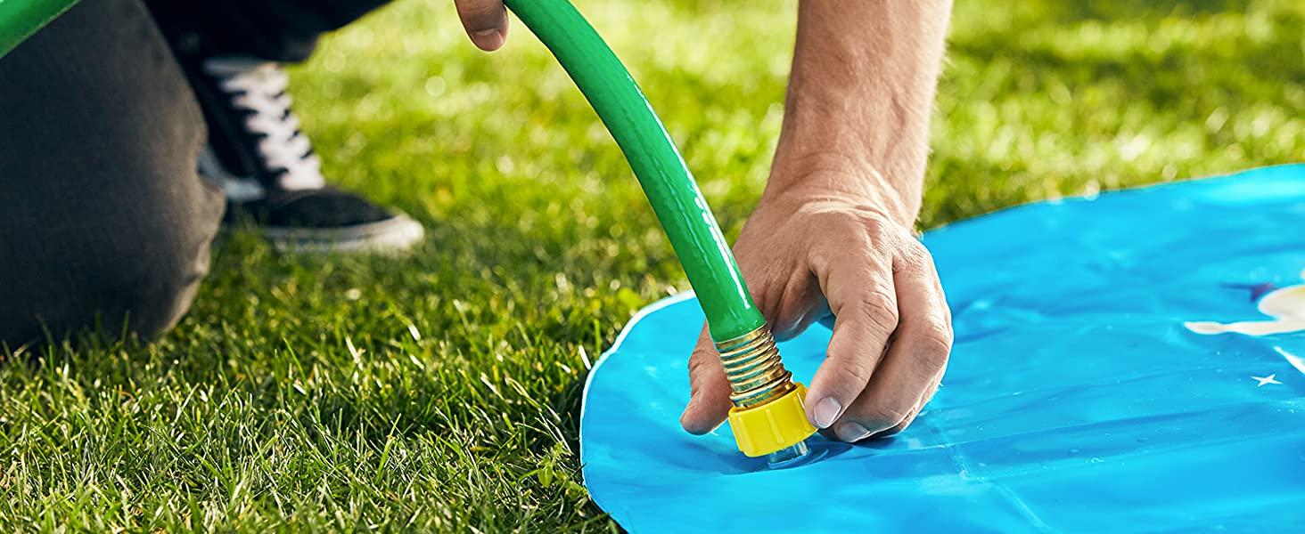 Inflatable Splash Pad Sprinkler for Kids Toddlers $25.45