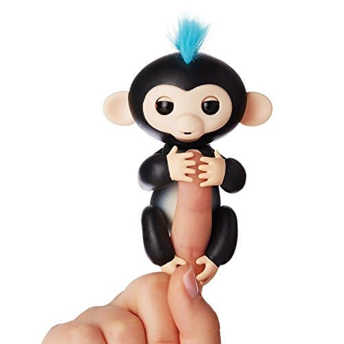Fingerlings - Interactive Baby Monkey - Finn (Black with Blue Hair) By WowWee 14.99 - In stock now
