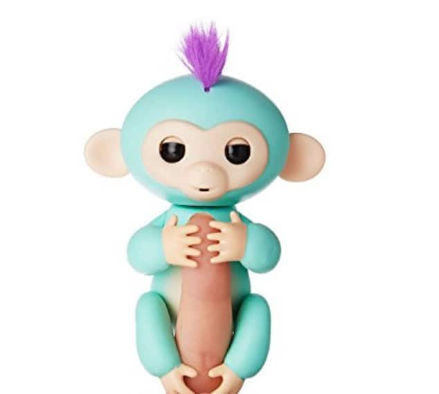 Fingerlings - Interactive Baby Monkey - Zoe (Turquoise with Purple Hair) By WowWee 14.99 - In stock now