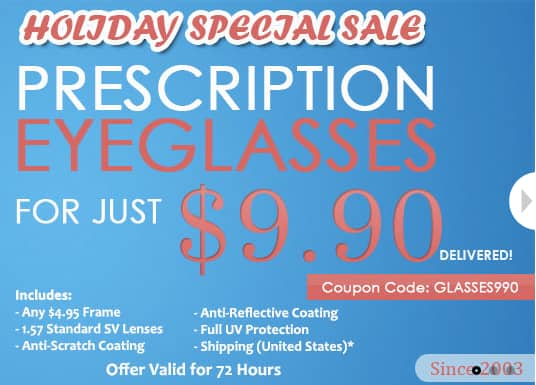 2 Pairs of Prescription Eyeglasses with Coatings $10      + shipping