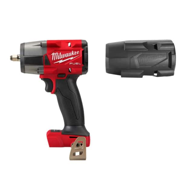 M18 FUEL 18-Volt Lithium-Ion Mid Torque Brushless Cordless 3/8 in. Impact Wrench with Friction Ring, Protective Boot after Hack -> $161.75