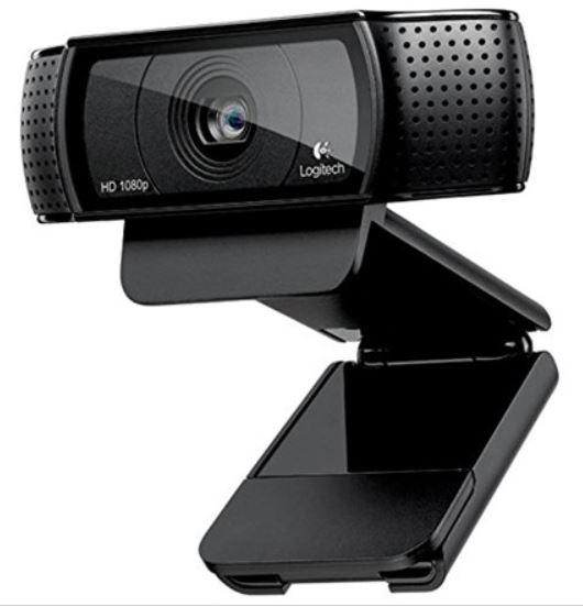 Logitech HD Pro Webcam C920, 1080p Webcam $30.59