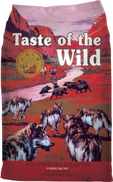Taste of the Wild Grain Free High Protein Natural Dry Dog Food 28lb (Southwest Canyon - Wild Boar) Chewy.com $34.29