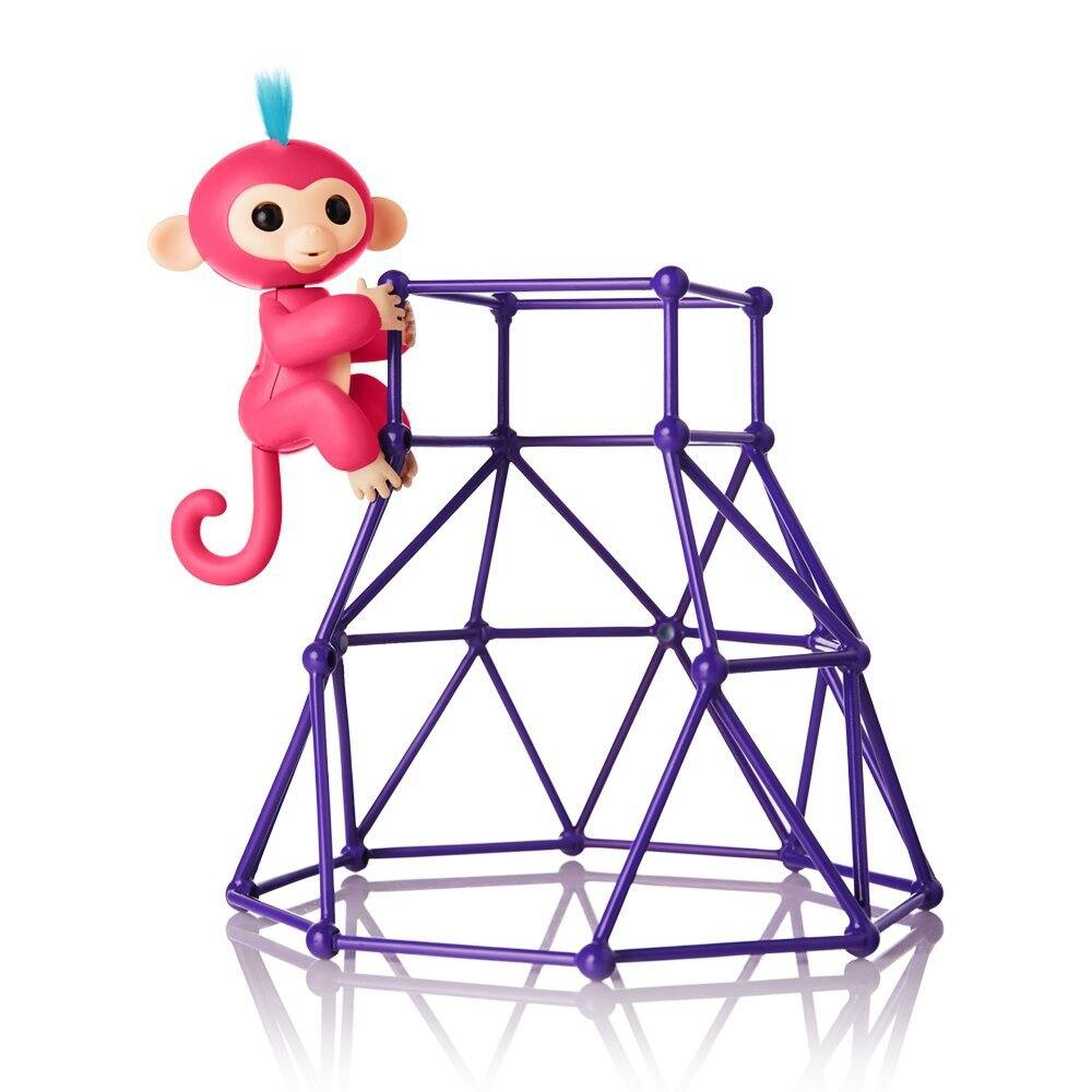 Fingerlings -  Interactive Baby Monkey Aimee (Coral Pink with Blue Hair) +  Jungle Gym Playset $9.61