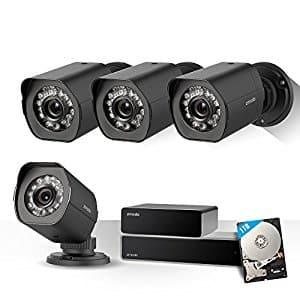 $40 OFF: Zmodo Full HD 1080p Security Camera System w/Repeater, 4 x 2.0 Megapixel IP Outdoor Surveillance Camera, 8CH HDMI NVR and 1TB Hard Drive $309.99