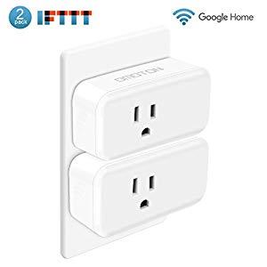 OMOTON [2 Pack] Mini Wifi Smart Plug compatible with Amazon Alexa, Google Home $13.50
