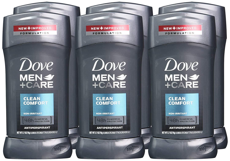Dove Men+Care Antiperspirant Clean Comfort 2.7 oz, Pack of 6 - max 3 per customer $8.64