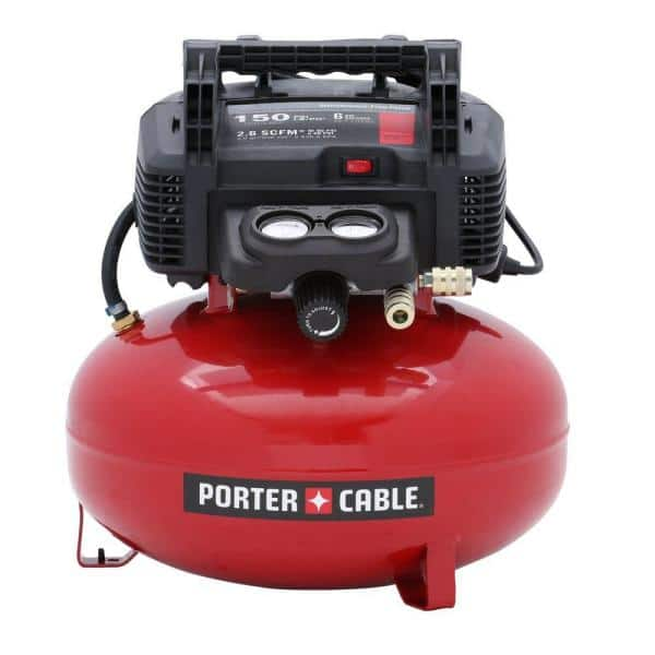 Porter-Cable 6 Gal. 150 PSI Portable Electric Pancake Air Compressor $99