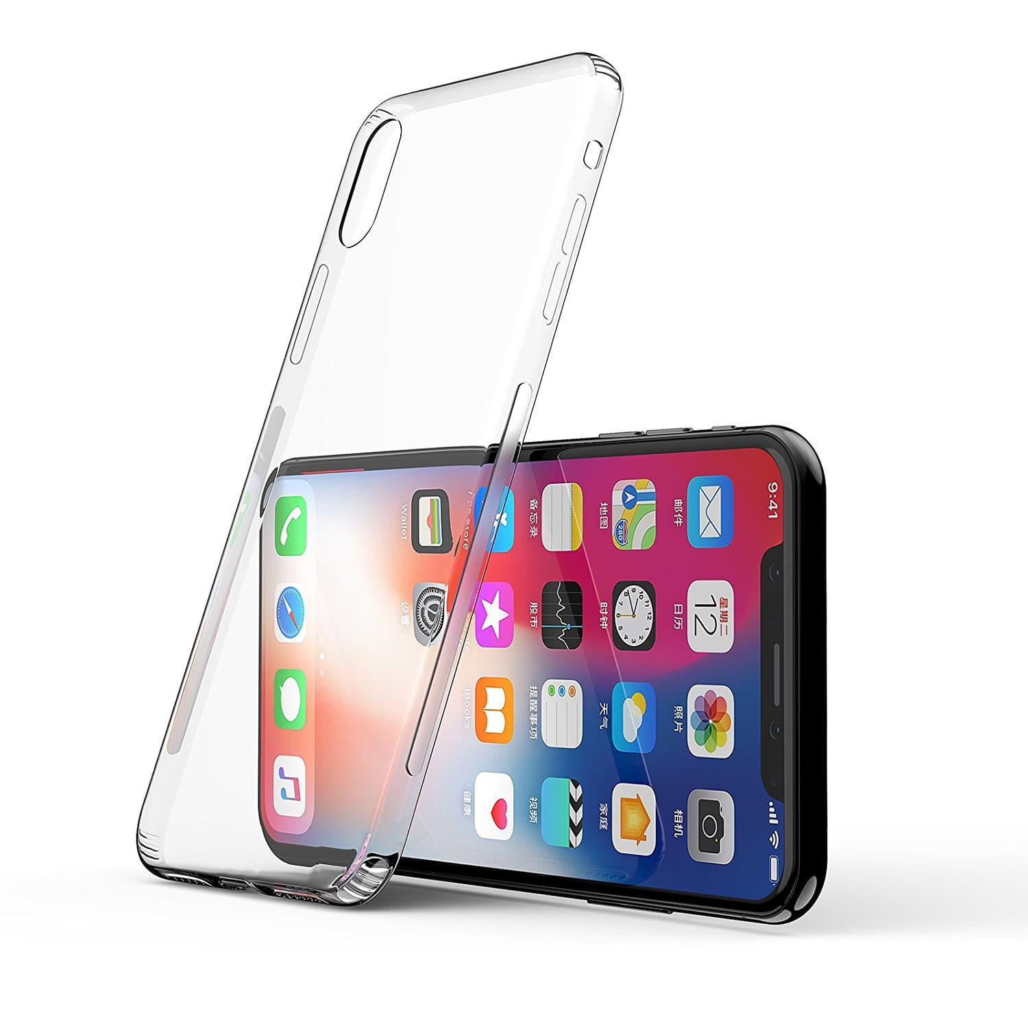 iPhone X Case, GANJOY Apple iPhone X Crystal Clear Shock Absorption Technology Bumper Soft TPU Cover Case for iPhone X - Clear [Clear] $5