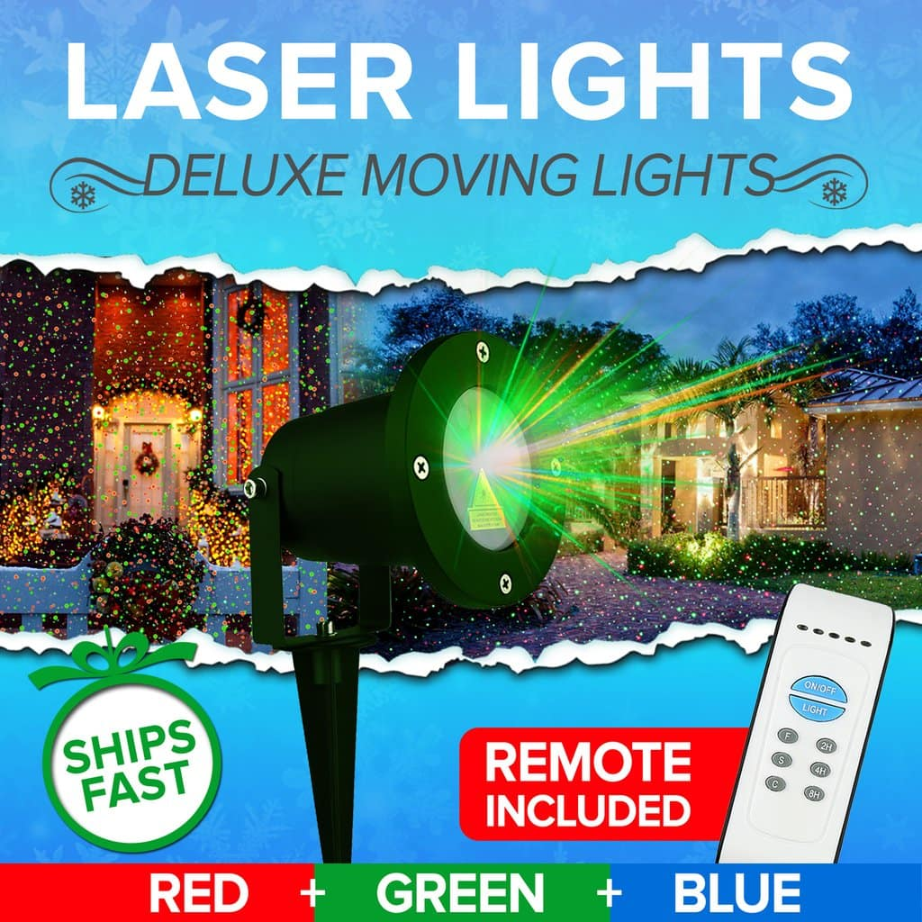 North Pole Christmas Laser Lights for $29.97 + Free Expedited Shipping