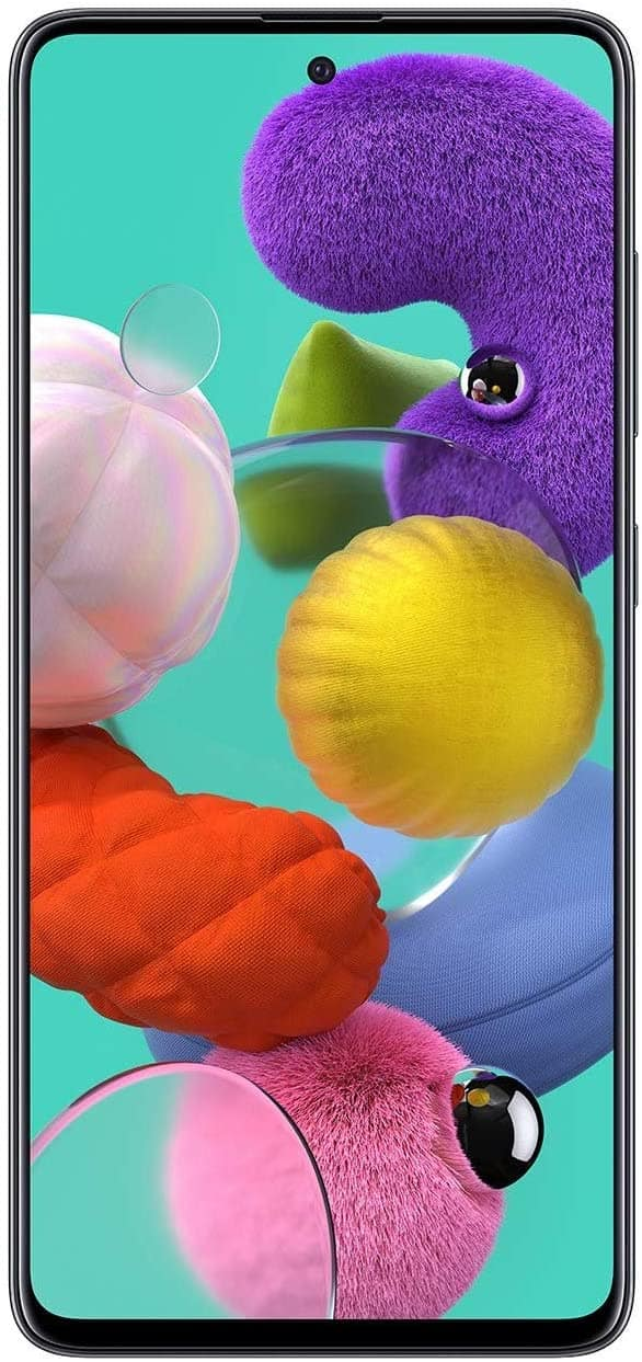 Samsung Galaxy A51 Factory Unlocked Cell Phone | 128GB of Storage | Long Lasting Battery | Single SIM | GSM or CDMA Compatible | US Version | Black $293.55