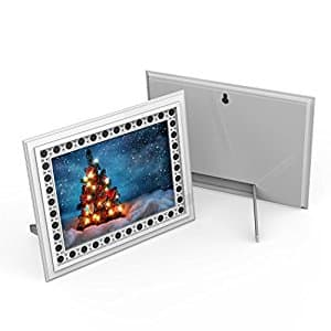 Conbrov T10 HD Photo Frame Hidden Spy Camera Night Vision Motion Activated Covert Camera, Nanny Cam Video Recorder Covert DVR Perfect for Home and Office Security Surveillance - Wh