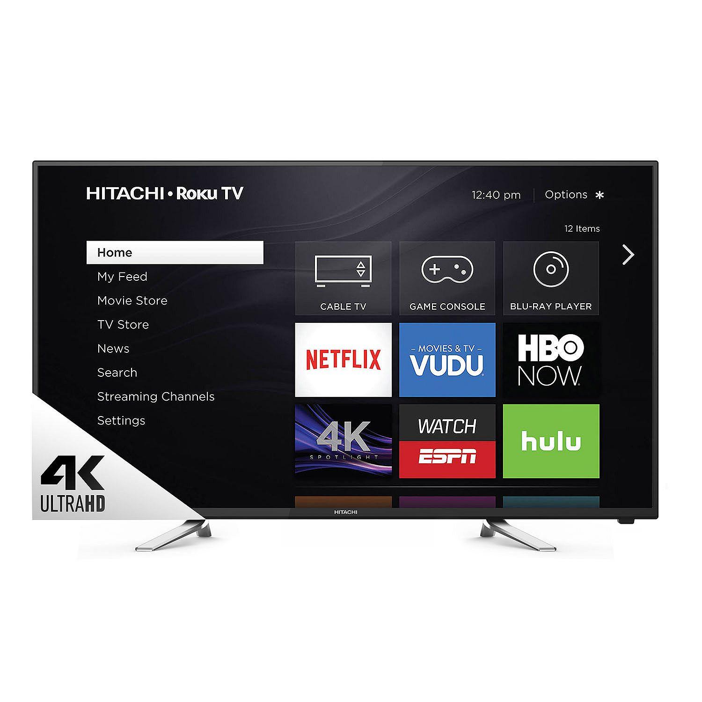 "Hitachi 60"" Class 4K Ultra HD Roku Smart LED TV $489"