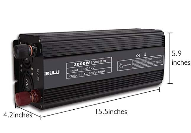iRULU Power Inverter - 2000W Continuous / 4000W Peak $69.99