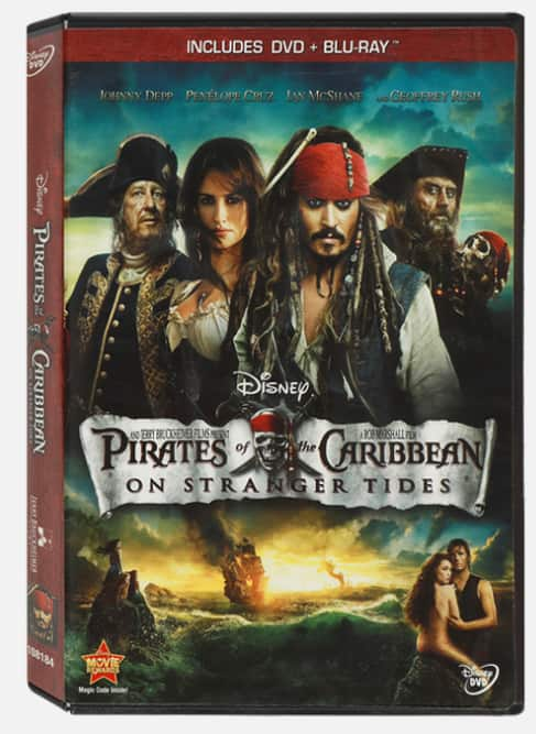Pirates Of The Caribbean: On Stranger Tides Blu-ray Combo Pack 500 points @ Disney Movie Insiders