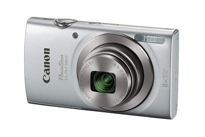 Canon PowerShot ELPH 180 Refurbished (Red or Silver) for $50 -  Free Shipping, Free Returns