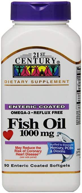 Amazon has 90-Count of 21st Century Fish Oil 1000 Mg Enteric Coated Softgels for $2.50