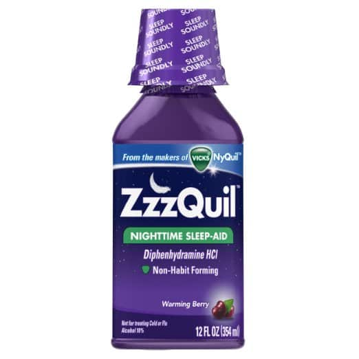 Amazon has ZzzQuil Nighttime Sleep Aid Warming Berry Flavor Liquid, 12 Ounce for $3.73