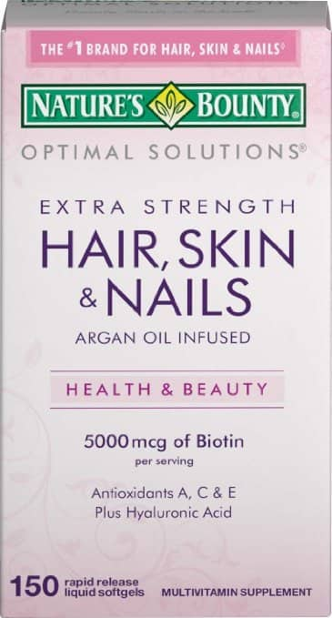 Amazon has Nature's Bounty Optimal Solutions Hair, Skin & Nails Extra Strength (150 Softgels) for $4.45