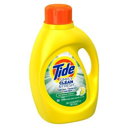 Tide 100oz Simply Clean & Fresh Daybreak Fresh Scent Liquid Laundry Detergent for $3.74 In Store Only
