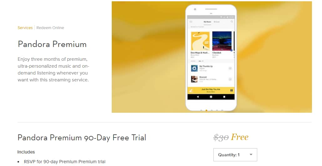 Free 3-Month Pandora Premium Subscription Trial Voucher (New Subscribers Only) by Gilt.com