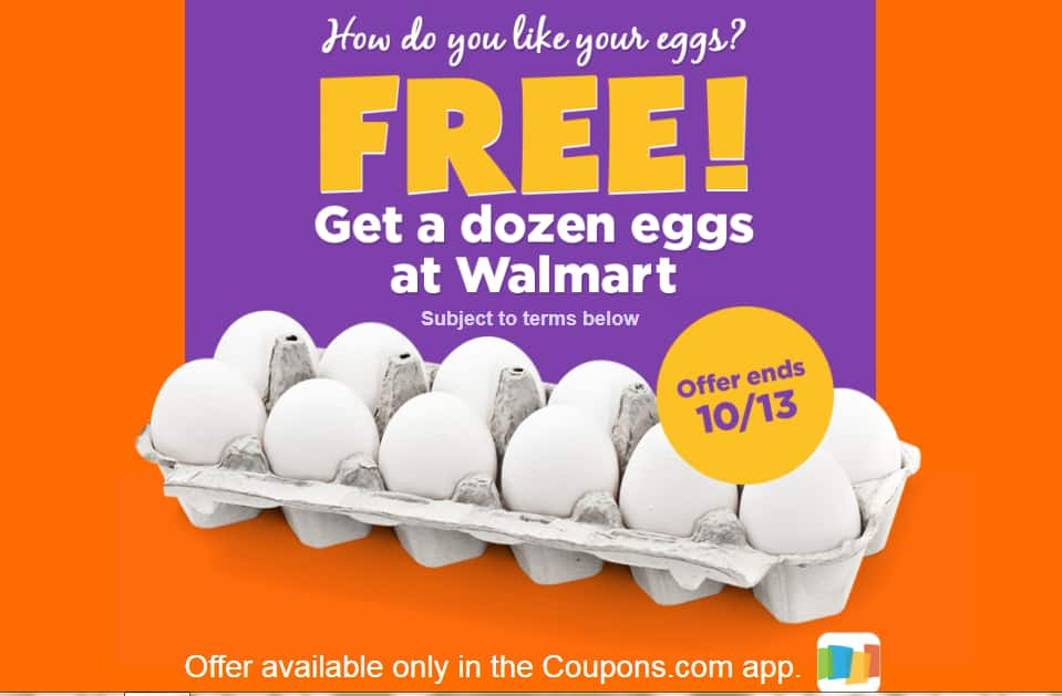 Free Dozen Eggs (Any Brand) up to $2 50 at Walmart B&M by