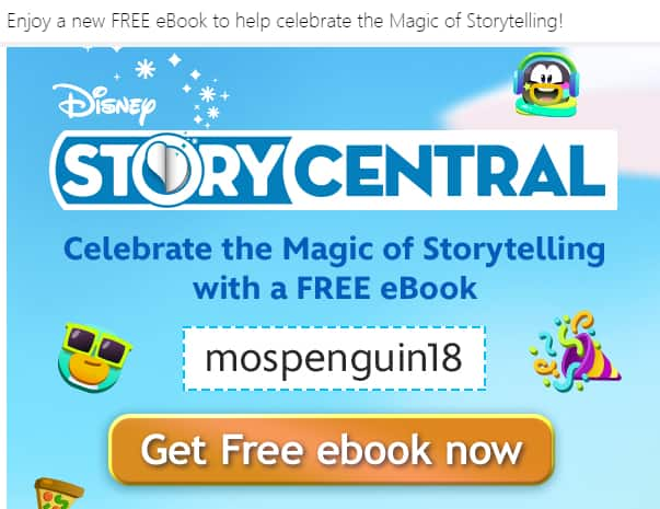 Free Disney Story Central Book: Club Penguin Island: Wish on a Squid Storybook