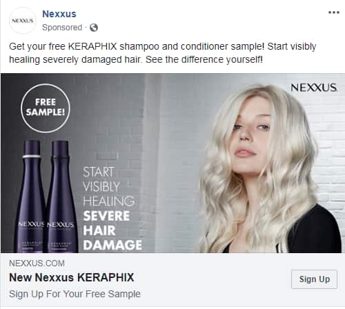 Free Nexxus KERAPHIX Shampoo and Conditioner Sample