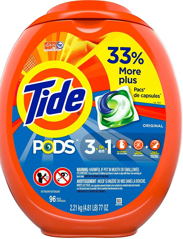 96-Count Tide Pods Laundry Detergent Pacs (Original Scent) $12.15 w/ S&S + Free S&H