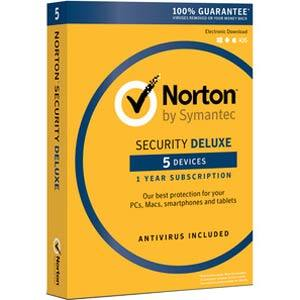 Norton Security Deluxe - 5 Devices / 1-Year Coverage (FREE after Mail-In-Rebate)